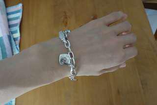 🚚 全925純銀高質感吊飾手環(扣環也是銀)
