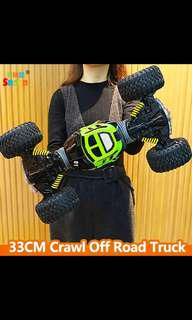 (P.O.) Remote Control Electric Crawl Off Road Truck High Speed Racing Climbing RC Car 2.4G 4WD Monster Vehicle, One Key Transform
