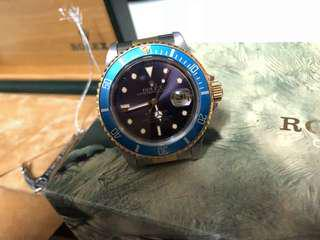 Vintage Rolex Submariner 16803 Purple Dial Denim Bezel Full Set