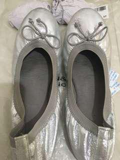 Ballerina shoes silver- urban&co