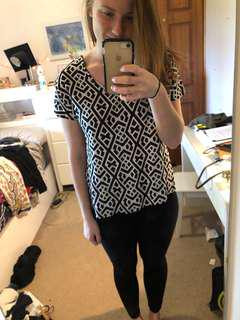 Black and white sass top