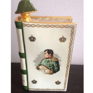 Napoleon Camus Cognac Book Bottle Decanter Porcelain - 1969 -