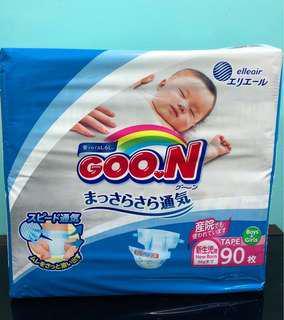 🚚 G.oon Japan Diaper size newborn(90pcs)(tape)