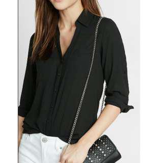 Express Black Dress Shirt (Slim-fit)