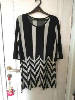 Blouse big size bisa jadi mini dress