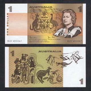 1983 AUSTRALIA 1 DOLLAR P-42d UNC *JOHNSTON & STONE*