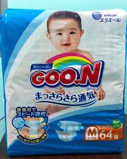 🚚 G.oon Japan Diaper size M(64pcs)(tape)