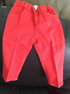 Preloved H& M red girly pants
