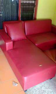 Sofa L Maroon