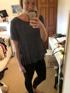 Glassons navy and white top