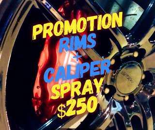 PROMO rims + caliper spray