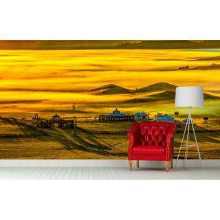 GOLDEN MONGOLIA WALL MURAL ART