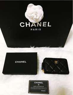 ab94fe2ac455 Brand New Chanel Mini Zip Wallet Name Card Holder