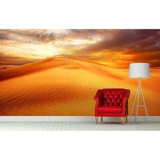 GOLDEN DESERT WALL MURAL ART