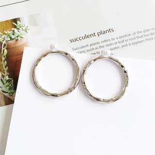 Pearl x sliver earrings