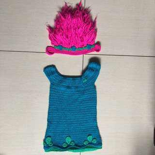 Trolls Poppy knitted costume