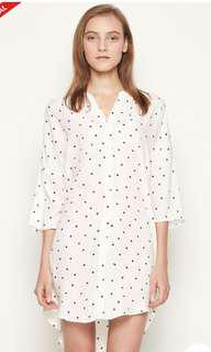 Padini Authentic Blouse White Polka Dot