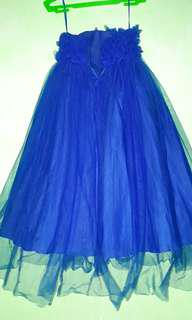 Royal blue gown for 3 to 4 yrs old