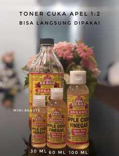 Toner Cuka Apel Bragg ACV Apple Cider Vinegar 100 ml