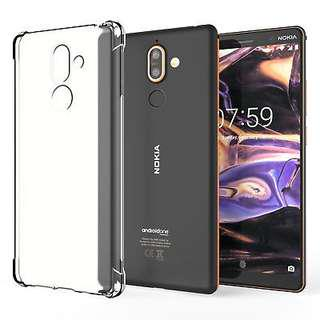 🚚 Nokia 7Plus Super Protection Clear Silicon Case