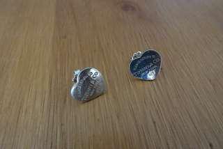 🚚 全925純銀高質感愛心耳環(耳針有微微壓到過)