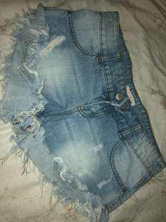 Beach denim shorts (size small)