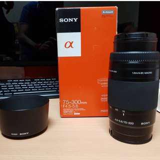 sony A-mount 75-300mm f4.5-5.6