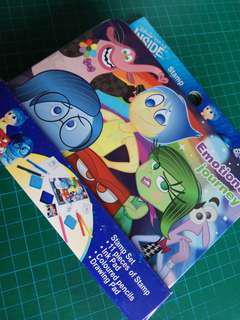 全新鐵盒Disney inside out stamp set 印章11個 顏色筆 畫纸 墨台 情緒專員