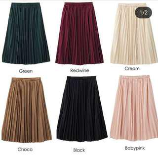 UNIQLO Pleats skirt cream