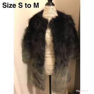 Black Fur Jacket- size S to M