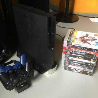 PS3 Slim console (complete set)