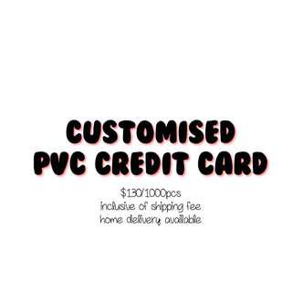 [CHEAP!] CUSTOMISED PVC CREDIT CARD