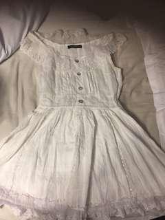 Short white summer dress