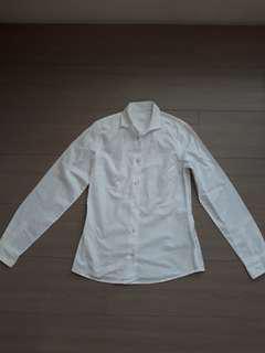 🚚 BV 白色棉長袖襯衫 --36