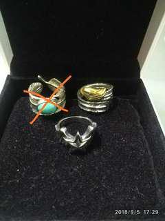 925純銀型格戒指 可以自由調較大細