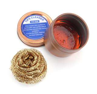 Alloy Soldering Iron Tip Cleaner and Copper Brass Ball Cleaner With Rosin Flux