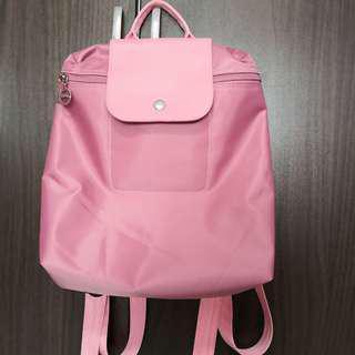 Inspired Longchamp Bagpack Mauve Pink