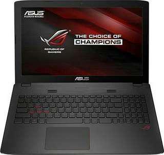 Kredit laptop gaming Asus ROG GL553VE, promo free 1x cicilan