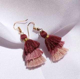 Brand New Pink Ombré Tassel Earrings
