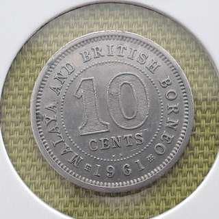 Malaya Borneo QE2 10ct 1961KN