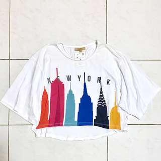 Zara Trafaluc New York Loose Fit T-shirt
