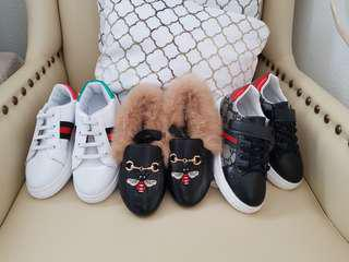 GUCCI inspired lot of 3 shoes BNEW 18.3cm