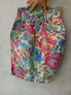 Rok jeans bunga floral #MauiPhoneX