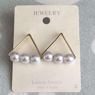 韓國耳環 珍珠