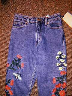 Monki high waist jeans 高腰牛仔褲