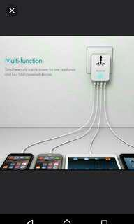 BNIB 4 USB with universal power point charger free postage
