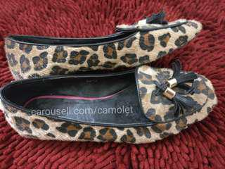 Leopard Shoes / Sepatu Macan / Sepatu Motif / Flat shoes / Office shoes / Formal shoes / Sepatu Kampus / Sepatu Kantor / Sepatu Coklat / Brown shoes / Pantofel