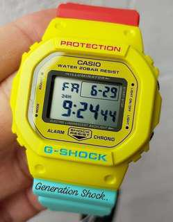 HURRY!! LAST 5-SETS in GSHOCK DIVER SPORTS WATCH : 100% ORIGINAL AUTHENTIC G-SHOCK in RASTAFARIAN Best Gift For Most Rough Users & Unisex : DW-5600CMA-9DR / DW-5600 / DW5600 / DW5600CMA / DW-5600CMB / DW5600CMB / G SHOCK