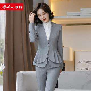 Ruffled pleated small suit women's fashion one button casual suit suit autumn new Korean jacket ol