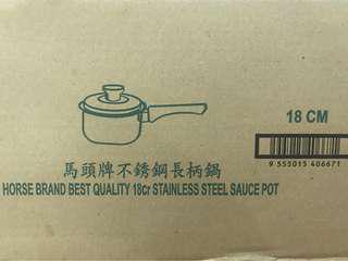Stainless steel sauce pot 不锈钢长柄锅